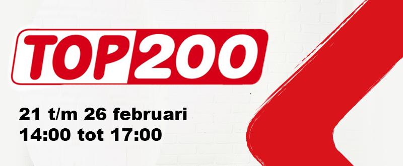 Luister van 21 t/m 26 feb. naar de Top 200!